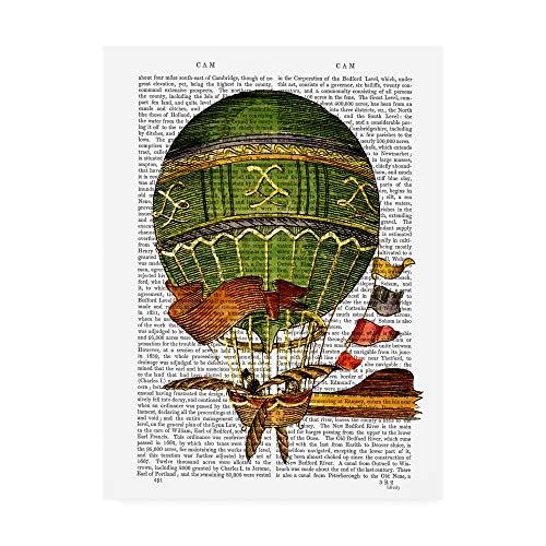 Trademark Fine Art Hot Air Balloon, Green by Fab Funky, 35x47