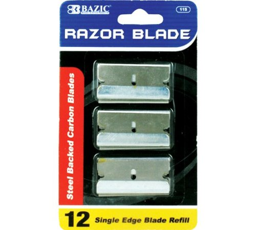 BAZIC Razor Replacement Blade (12/Pack), Case Pack of 360