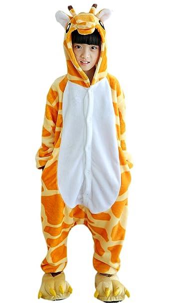 Niños Pijama Kigurumi Animal Cosplay Disfraces Animados Jirafa Ropa de Dormir para Unisex Altura Entre 9, 0 y 1, 48 m: Amazon.es: Ropa y accesorios