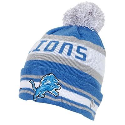 NFL New Era Detroit Lions Jake Knit Hat - Light Blue/Silver