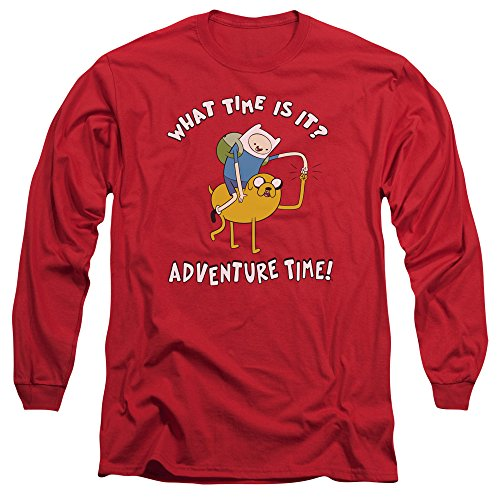 Adventure Bump hombre para larga Ride manga de Time rojo Camiseta rn8wY7q1r