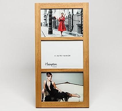 Amazon.com: Multi Aperture Solid Wood Gallery Photo Frame (White Oak ...