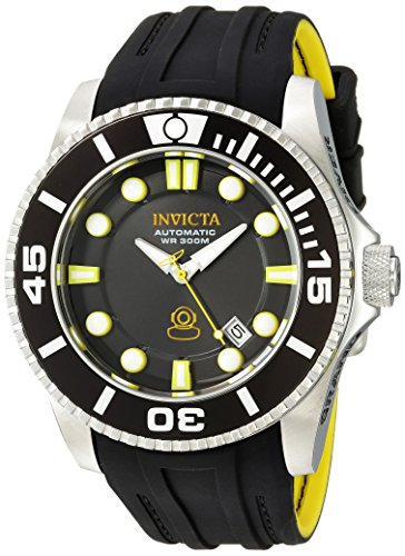 Sport Automatic Diver Watch (Invicta Men's 'Pro Diver' Automatic Stainless Steel and Silicone Diving Watch, Color:Black (Model: 20199))