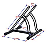 RAD Cycle Products Mighty Rack Two Bike Floor Stand Bicycle Instant Park Bike Rack Cycle Stand - Pro-Quality! (3 Pack)