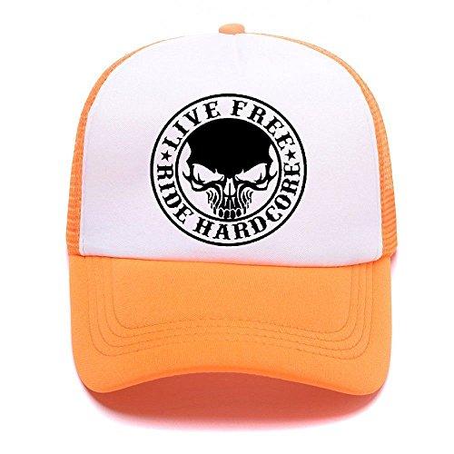 Caps Mesh Black Girl béisbol Hat Cap Men 004 Trucker Gorras Baseball Women For Boy Orange D de Harley q4ytzAy
