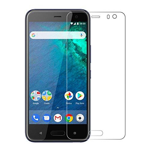 予見する小石嘆願Android One X2 ガラスフィルム,SAKUTON 業界最強硬度9H 2018最新版 旭硝子製 極薄0.15mm HTC U11 Life フィルム ケースに干渉せず 高感度タッチ 極高透過率