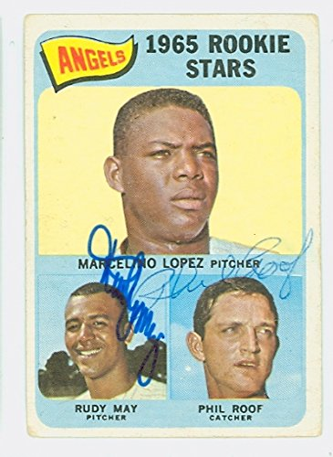 Rudy May DUAL SIGNED 1965 Topps California Angels Rookies #537 California Angels CARD IS F/P
