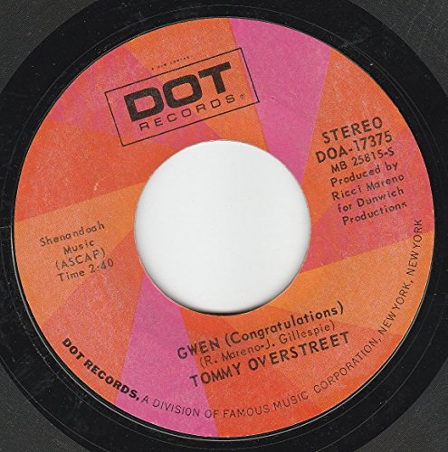 45vinylrecord Gwen (Congratulations)/One Love Two Hearts Three Lives