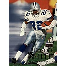 Emmitt Smith football card (Dallas Cowboys Hall of Fame) 1999 Skybox Premium #104