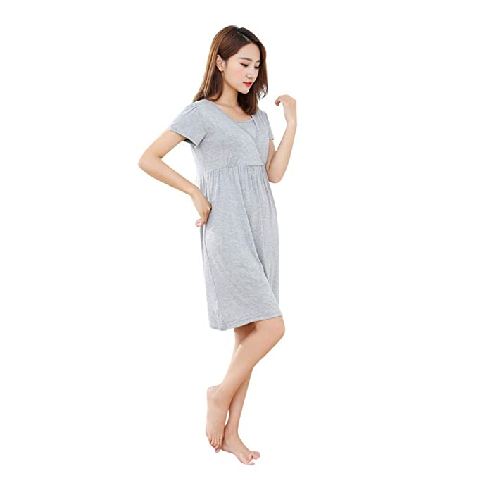 5a3e1b91039b Amazon.com: Womens Labor/delivery/Nursing Hospital Gown Maternity ...