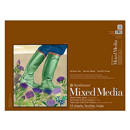 Strathmore 400 Series Mixed Media Pad 18''x24'' White 15 Sheets