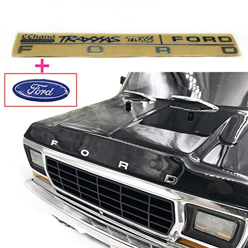 (KOAG: RC Car Part Ford Metal Emblem Head Logo for 1/10 TRAXXAS TRX-4 TRX4 Ford Bronco Body Luxury Look Decorative)