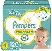 Pampers Swaddlers Pañales Etapa 4, con 120 Piezas