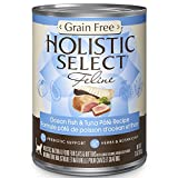 Holistic Select Natural Canned Grain Free Wet Cat Food, Ocean Fish & Tuna Pate, 13-Ounce Can (Pack of 12)
