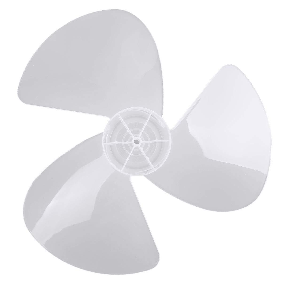 ranrann Tres Hojas de Ventilador Pl/ástico para Hogar Accesorios para Ventilador 16 Inches Con//Sin Tuerca Cuchilla de Viento para Ventilador de Piso,Ventilador de Mesa