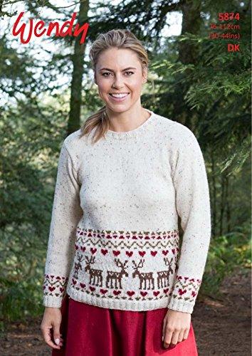 Amazon Wendy Ladies Christmas Sweater Mode Knitting Pattern