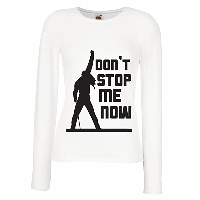 Camisetas de Manga Larga para Mujer Dont Stop me Now! Camisas de Abanico, Regalos de Músicos, Ropa de Rock: Amazon.es: Ropa y accesorios
