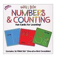 Números de WikkiStix y conteo de tarjetas divertidas para aprender con molduras y esculturas
