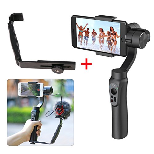 Zhiyun Smooth Q 3 Axis Handheld Gimbal Stabilizer,Wireless Control For Max 6 inch Smartphones iPhone 7 6s plus Youtube Video Vlogging Android Samsung Galaxy Huawei Xiaomi Gopro