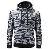 Sweatshirt For Men,Clearance Sale-Farjing Men's Autumn Winter Long Sleeve Camouflage Hooded Sweatshirt Tops Blouse(3XL,Gray)