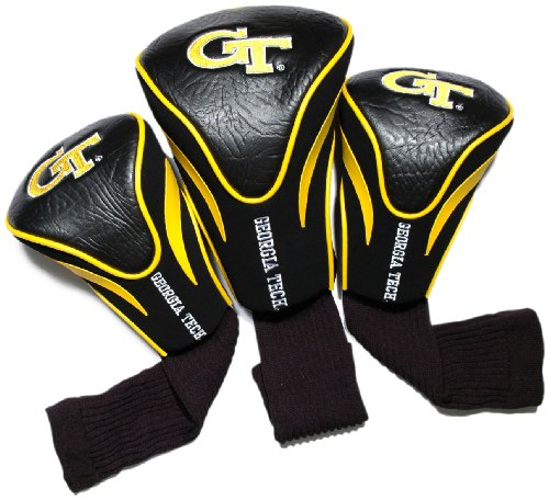 NCAA Georgia Tech Yellow Jackets 3 Pack Contour Golf Club Headcover