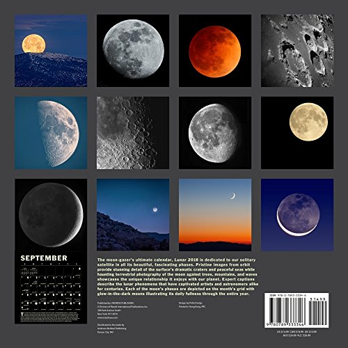 Lunar 2018 Wall Calendar: A Glow-in-the-Dark Calendar for the Lunar Year cover