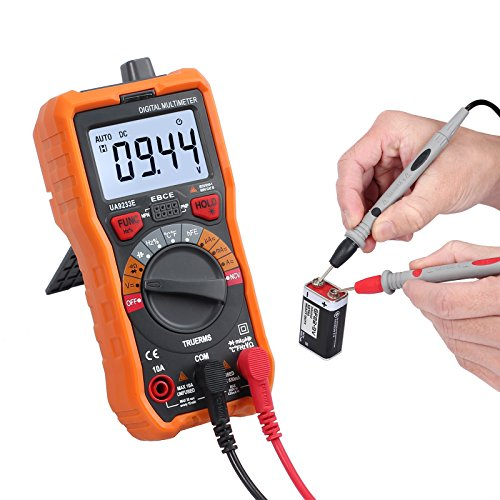 CAMWAY Digital Multimeter 6000 Counts True RMS Auto Ranging NCV AC/DC Voltage Current Resistance Temperature Backlit LCD Multi-Tester Probe & Alligator Clips by CAMWAY (Image #1)