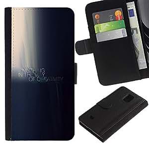 Samsung Galaxy S5 Mini / SM-G800 (Not For S5!!!) , la tarjeta de Crédito Slots PU Funda de cuero Monedero caso cubierta de piel (Nothing Is In The Way Of Creativity Motivational)