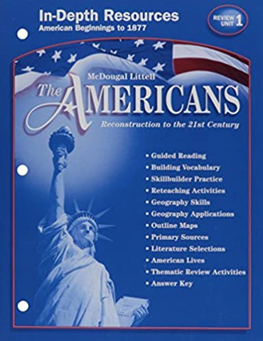 amazon com in depth resources unit 1 the americans reconstruction rh amazon com McDougal Gym McDougal Karen Fine-B-Hide