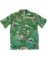 EXCLUSIVE Christmas Hawaiian Shirt With Santa Surfing