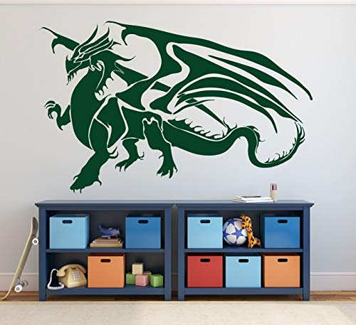 Dragon Wall Decal | Vinyl Sticker Decor for Children's Bedroom, Playroom, Game Room | Ancient Chinese Symbol of Power -