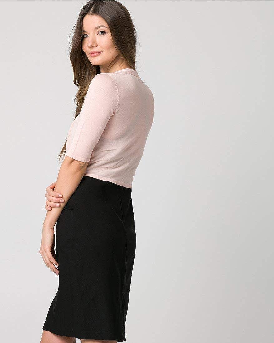 LE CH/ÂTEAU Viscose Blend Open-Front Shrug for Women