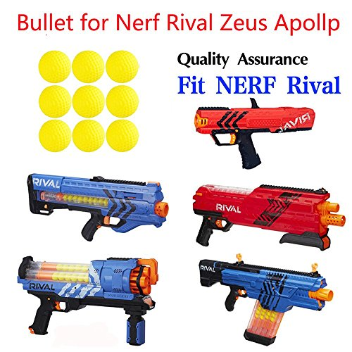 100pcs Rival Compatible Ammo Blasters refill replace round balls Foam Bullet pack for Nerf Rival Apollo, Zeus, Khaos, Atlas, Artemis + Bag by xiaoban (Image #6)