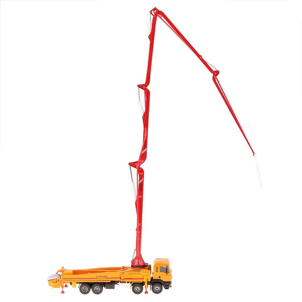 D DOLITY Escala 1: 50 Diecast Construction Pump Car Juguetes Camión Bomba - 22.5 x 23.5 x 81cm - naranja