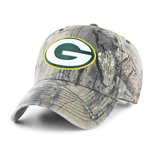 Green Bay Packers Signature Football - OTS NFL Green Bay Packers Male Mossy Oak Challenger Adjustable Hat, Mossy Oak-Break Up Country, One Size