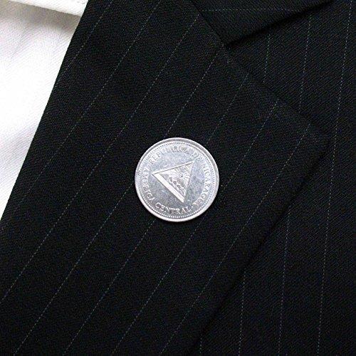 Nicaragua Coin Tie Tack Lapel Pin Central America Corbata Traje Joyeria Joyas LDS Missionary Gift