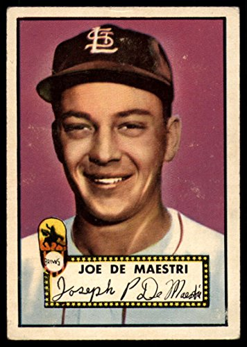 Baseball MLB 1952 Topps #286 Joe DeMaestri VG Very Good RC Rookie - Browns Joe Very