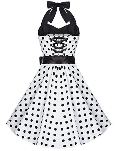 Kleid schwarz mit punkten