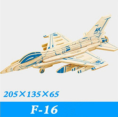 Coeus 3d Wooden Puzzle / DIY Model - Fighter- F-16 Fighting Falcon -Educational Games for Kids / 3d Puzzles for Adults - F-16 Falcon Game