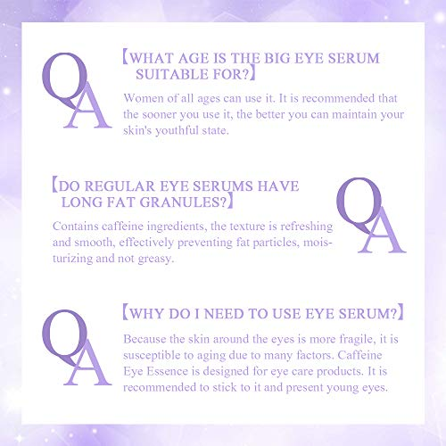 51zQukGtcaL - Anti Aging Eye Serum, Under Eye Serum for Puffiness, Eye Bags, Dark Circles and Fine Lines, Anti Wrinkle Eye Cream, with Caffeine Under Eye Treatment Serum 30ml
