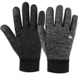 Winter Gloves Touch Screen Gloves Anti-Skid Windproof Driving Riding Cycling Gloves Thermal Warm Gloves Outdoor Sport Gloves for Men and Women (Thick-Medium)