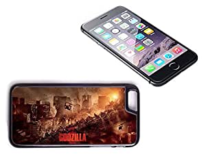 iPhone 6 Black Plastic Hard Case with High Gloss Printed Insert Godzilla