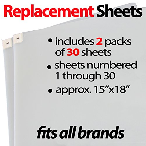 Sticky Mat Replacement  60 Sheets, Fits All, by StepNGrip , Size 15x18 Sticky Sheets