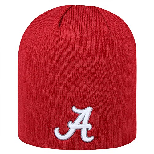 (Top of the World Alabama Crimson Tide Official NCAA Uncuffed Knit Classic Beanie Stocking Stretch Sock Hat Cap 922935)
