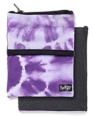 BIG BANJEES WRIST WALLET Breathable, Lightweight, Easy Access to Phone, etc.,One Size,Tie Dye Purple/Black