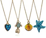 Betsey Johnson Women's Crabby Couture Sealife Pendant Necklace Jewelry Set, Blue, One Size