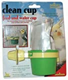 JW Pet Company Clean Cup Feeder and Water Cup Bird Accessory, Medium, Colors may vary, My Pet Supplies