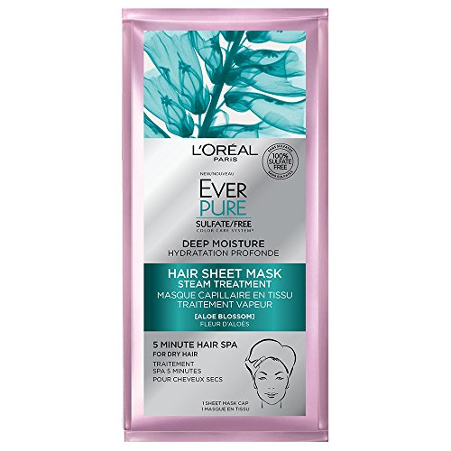 L'Oreal Paris Hair Care Ever-Pure Deep Moisture Hair Sheet Mask, 1 Count