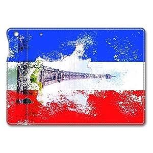 iPad Mini Case - Folding Leather Cases for iPad Mini Ipad Air Mini Leather Cover France Flag Eiffel P Protective Stand Leather Cases for iPad Air Mini by ruishername
