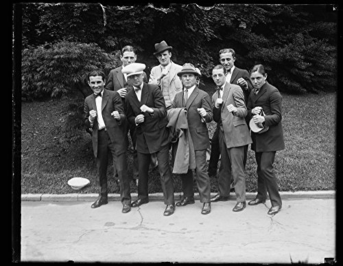 1924 Photo Members of the U.S. Olympic Boxing Team call at the W.H. [i.e., White House] to see the Pres. before sailing June 14th. Front row, lft. to rt.: Fedel La Barba, Jack Fields,